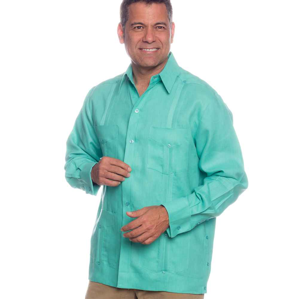 Deluxe Signature French Cuffs Linen Guayabera| On sale today!, Ships ...