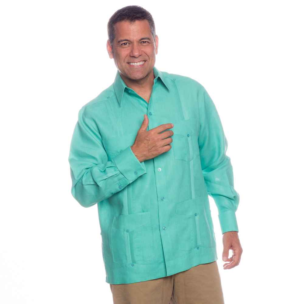 Deluxe Signature French Cuffs Linen Guayabera  On sale today!, Ships ...