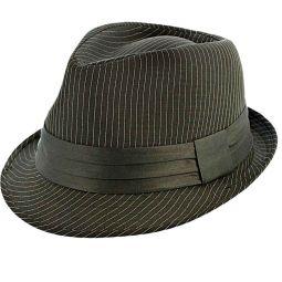 372536e26b1 Joe Jazz Charcoal Pinstripe Fedora Hat