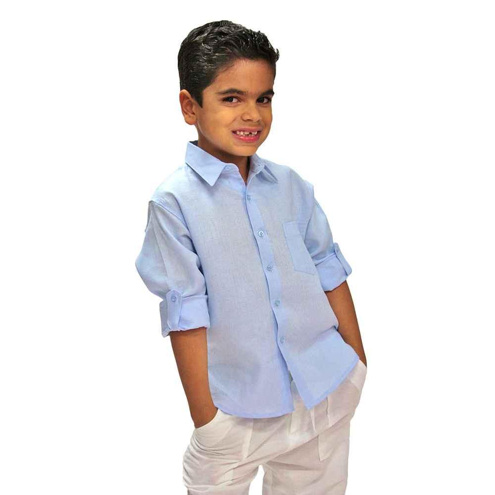 00d16d0207 Boys Tropical Florida Sun Linen Shirt