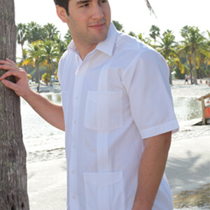 Long Sleeve Guayabera Fitting Detail