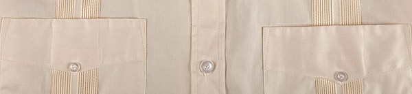 Long Sleeve Guayabera Top Back Detail