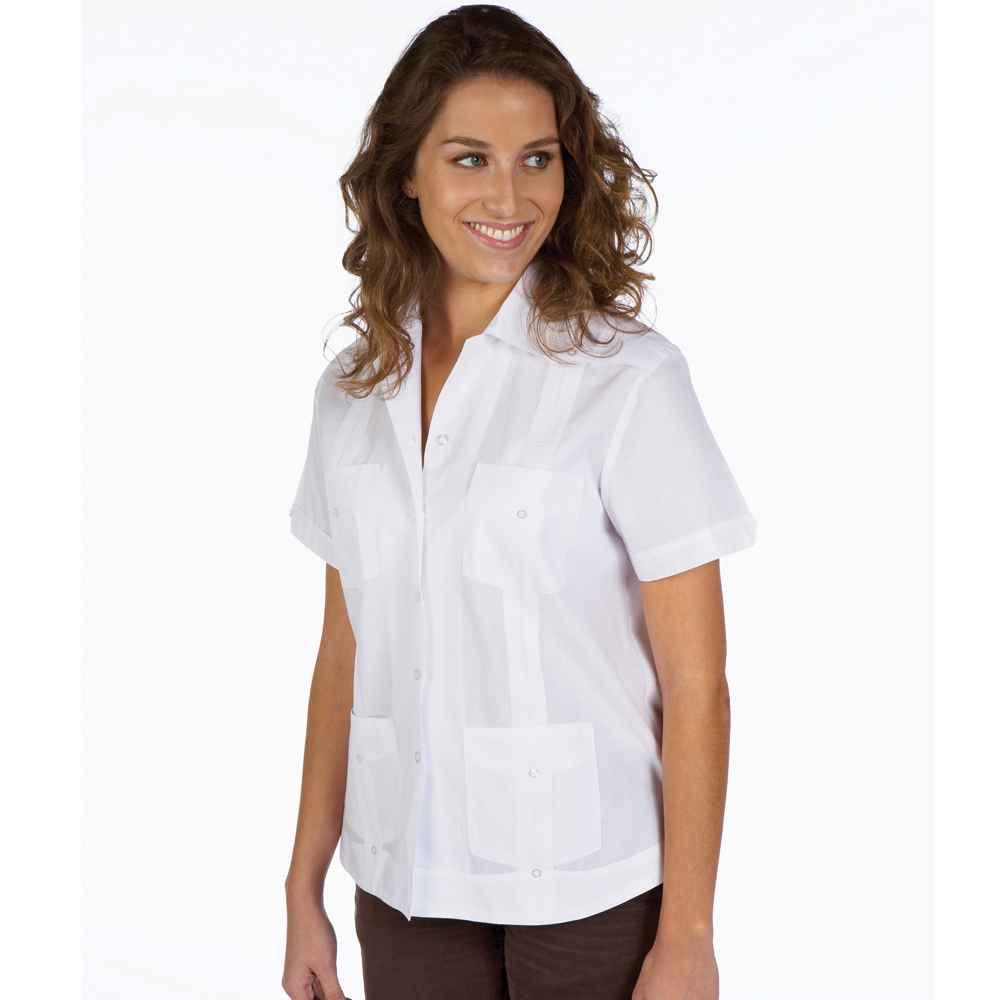 Guayabera Shirt For Women Basic On Sale Today Ships Free